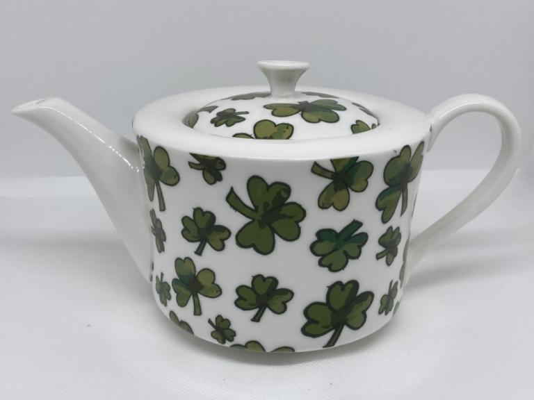 Shamrock Art Deco Style Teapot